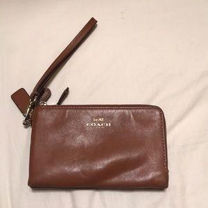 Super cute Coach wallet Double zip
